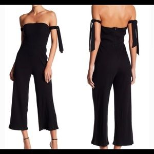 NBD The Eden Ribbed Jumpsuit in Black. Size small.